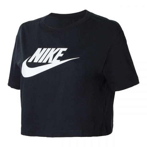 Футболка жіноча Nike Sportswear Essential Women's Cropped T-Shirt BV6175-010