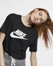 Футболка жіноча Nike Sportswear Essential Women's Cropped T-Shirt BV6175-010