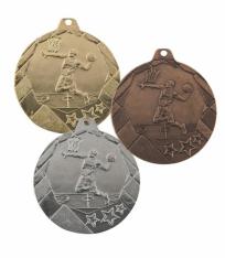 Медаль ОТ2 50мм баскетбол - Срібна