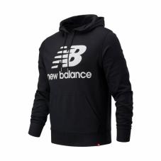 Реглан New Balance Essentials Stacked Logo Hoodie MT03558BK