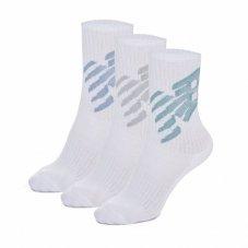 Шкарпетки New Balance Big logo 3 Pair Crew LAS02563WT
